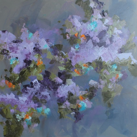 Abstract in Violet by Kay Wyne