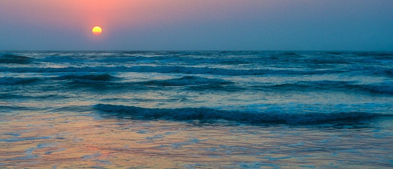 Sunrise Over Padre by Renn Lawrence